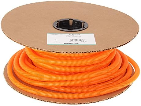 Panduit CLT38F-C3 Slit Wall Corrugated Loom Tubing, Orange