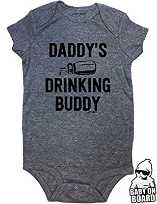 Daft Baby Daddy's Drinking Buddy Funny Baby Onesie Baby Shower Gift