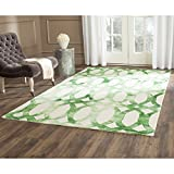 Cheap Safavieh Dip Dye Collection DDY675B Handmade Geometric Watercolor Ivory and Green Wool Area Rug (4′ x 6′)
