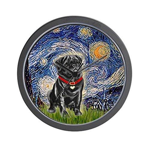 CafePress - Starry Night/Black Pug - Unique Decorative 10