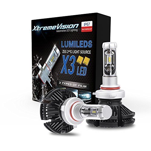 XtremeVision X3 50W 12,000LM - 9006 LED Headlight Conversion Kit - 3000K 6500K 8000K ZES LED - 2018 - R32 Vw Model