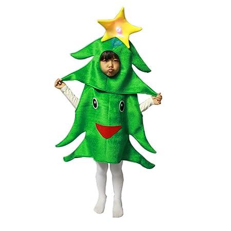 DONGBALA Niños de Disfraces de árbol de Navidad, niños pequeños ...