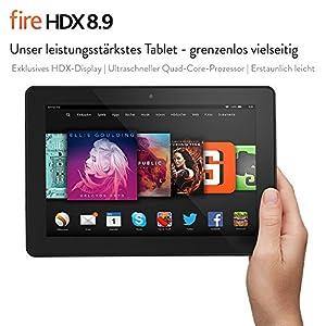 Fire HDX 8.9, 22,6 cm (8,9 Zoll), HDX-Display, WLAN und 4G LTE, 64 GB - mit Spezialangeboten