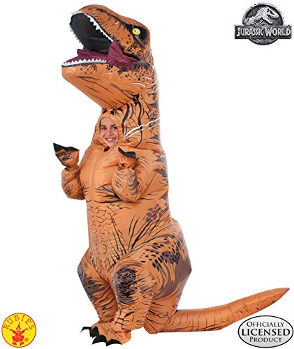 Rubie's Costume Jurassic World Child's T-Rex Inflatable Costume with Sound, Multicolor (Costumes Adults Amazon)