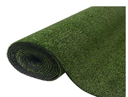 K&A Company Artificial Grass Plant Decor Garden Home Green 3.3'x98.4'/0.3''-0.4''