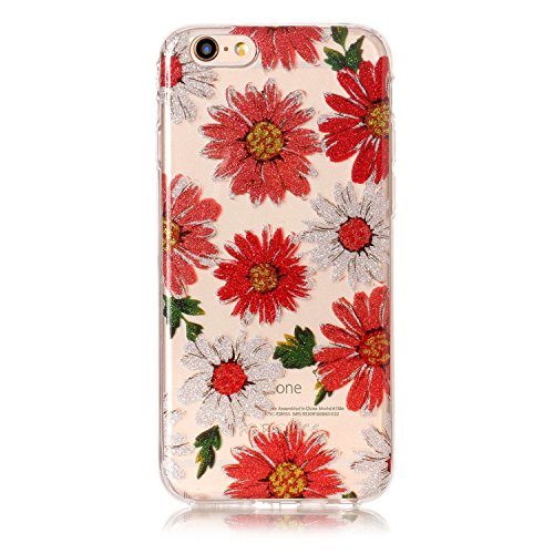 Custodia iPhone 6 / 6S , LH Margherita TPU Trasparente Silicone Cristallo Morbido Case Cover Custodie per Apple iPhone 6 / 6S 4.7