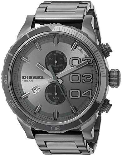 - Diesel DZ4314 Double Down Series Analog Display,Analog Quartz Grey  Men's Watch.