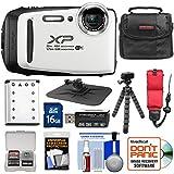 Fujifilm FinePix XP130 Shock & Waterproof Wi-Fi Digital Camera (White) 16GB Card + Battery + Cases + Tripod + Strap + Kit