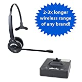 Discover D901 Long Range Wireless Office Headset System for Telephone & Computer- 2 Year Warranty and Optimized For Skype- Rated Up To 1200 Feet Of Wireless Freedom