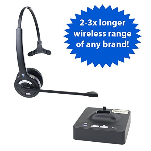 Discover D901 Long Range Wireless Office Headset System for Telephone & Computer- 2 Year Warranty and Optimized For Skype- Rated Up To 1200 Feet Of Wireless Freedom by Discover