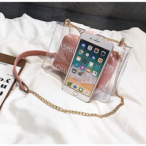 Bag Size Moda Pink Casual S color Hija De Bolsa Messenger Portátil Paquete Diseño Diagonal Black Kelly Zhanying Para Wild Mujer Shoulder Fashion wx0tqBgHSS
