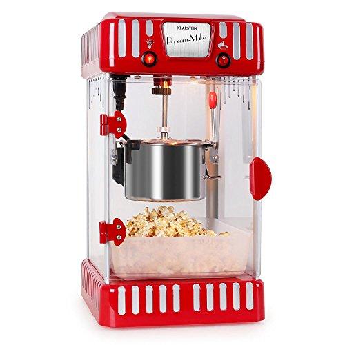 Klarstein Volcano Popcorn Maker Popcorn Making Machine Retro Style Movie...