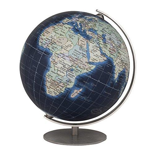 Physical Political Map Set (Columbus Mini Deep Blue Globe 4.7 Inch)