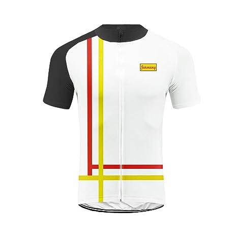 Set Moda Maglia Ciclismo Jerseys per Uomo Corta Manica Tuta Estivo Pantaloni Corti di Ciclismo Abbigliamento Ciclismo Sportivo Professionale Traspirazione Comodo Uglyfrog