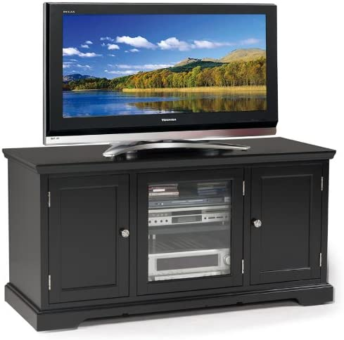 Leick Black Hardwood TV Stand, 50-Inch