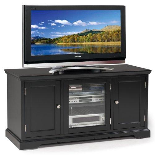 Leick Black Hardwood TV Stand, 50-Inch