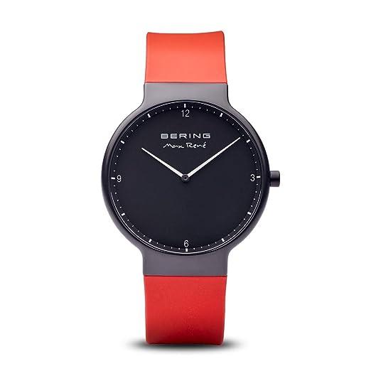BERING Reloj Analógico para Hombre de Cuarzo con Correa en Silicona 15540-523: Amazon.es: Relojes