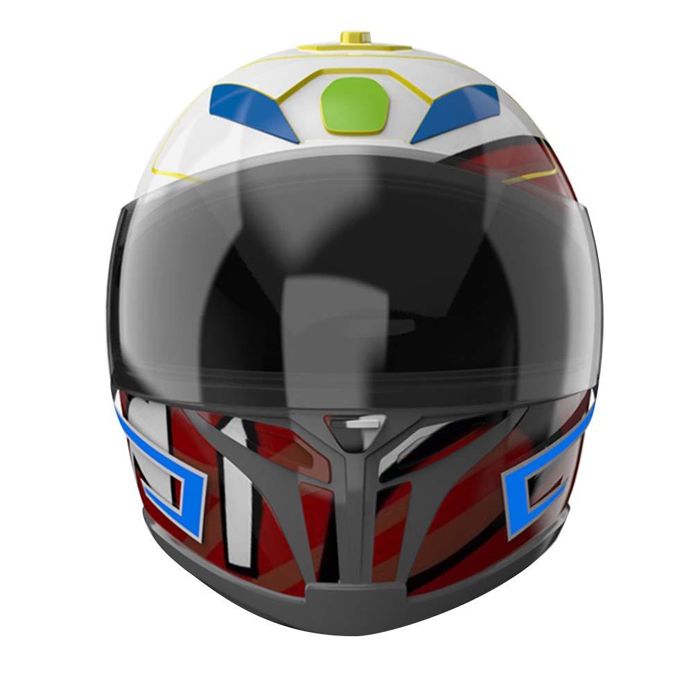 Carrfan Casque de Moto EL lumi/ère Froide 4 Mode LED Casque de v/élo Lumi/ère Lights Strip Bar