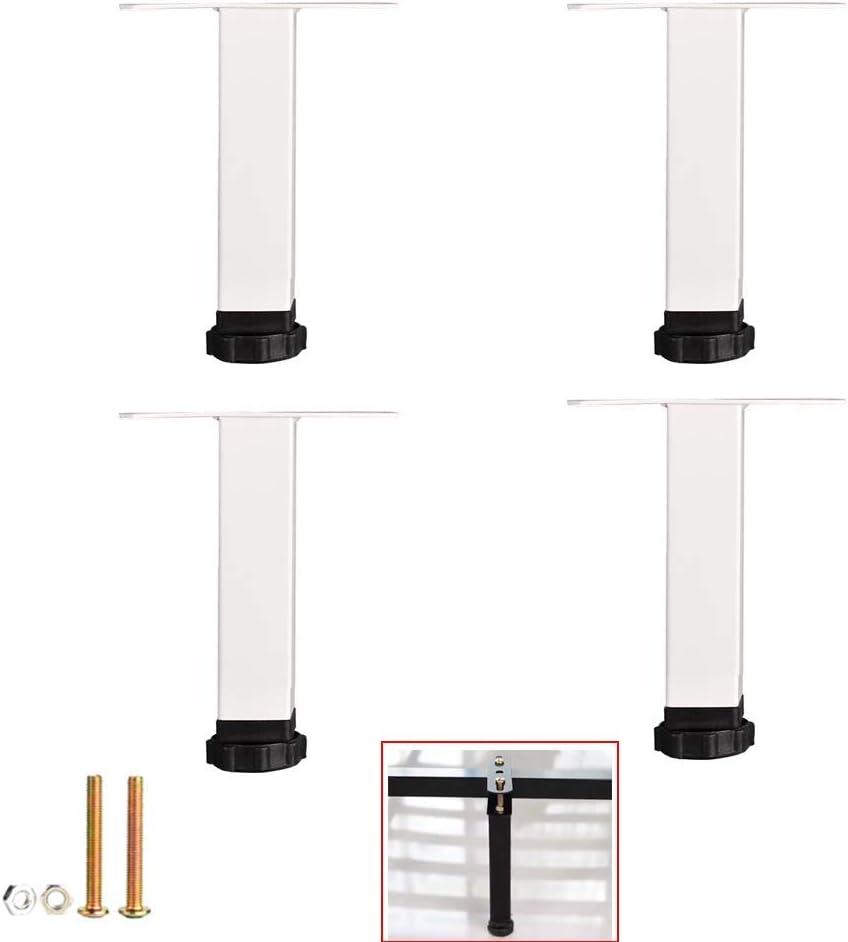 DX Juego de 4 Patas metálicas para Muebles, Patas de Mesa Tipo T, pies de Repuesto para sofá, Ajustables, para gabinete de TV, Escritorio, mesas auxiliares, incluidos Accesorios de Montaje (22c: Amazon.es: