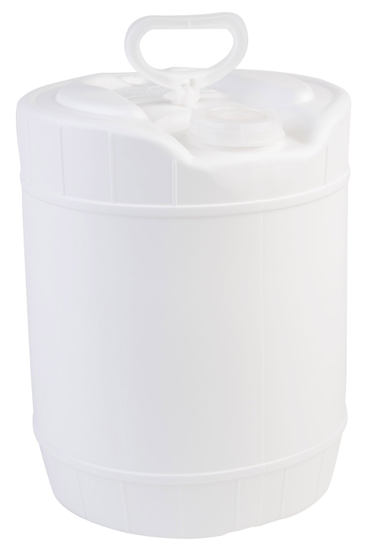 Hudson Exchange 5 Gallon Winpak Handled Container with Cap, HDPE, White