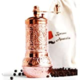 Bazaaranatolia Turkish Grinder, Spice Grinder, Salt Grinder, Pepper Mill 4.2'' (Copper)