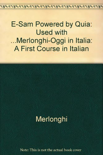 Oggi in Italia: A First Course in Italian 8th Edition