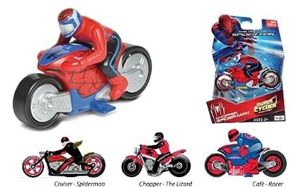 moto spiderman super cycles cafe racer spider man amazonfr jeux et jouets