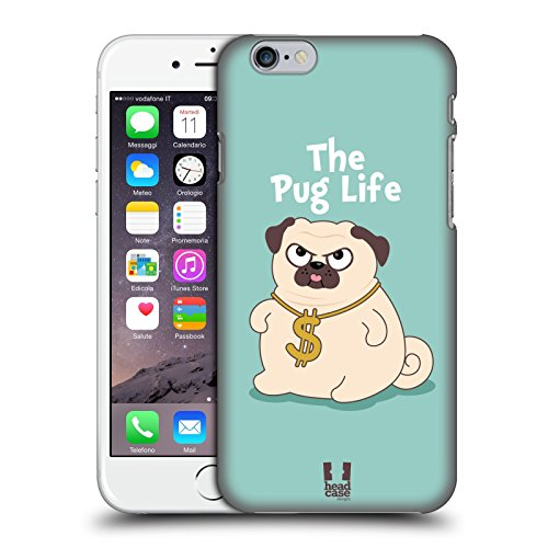 Carrying Piper Screen Case - Head Case Designs Life Piper The Pug Hard Back Case for Apple iPhone 6 / 6s