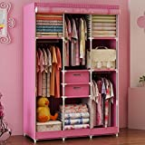 Product review for Generic Large Portable Cartoon Dustproof Wardrobe Reinforced Bold Closet for Kids Double Cabinet+Free 2 Storage Boxes