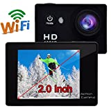 """Campark 2"""" LCD WIFI 1080P Waterproof 30M H.264 Full HD Action Camera, 2pcs Batteries with Free Battery Charger Action Cameras CAMPARK"""