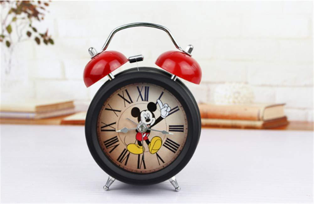 Retro Alarm Clock Cute Mickey Mouse Alarm Clock Creative Mute Luminous Metal Alarm Clock