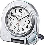 シチズン 目覚まし 時計 アナログ アブロード962A 旅行 用 携帯 トラベル クロック 銀色 CITIZEN 4GE962-A19