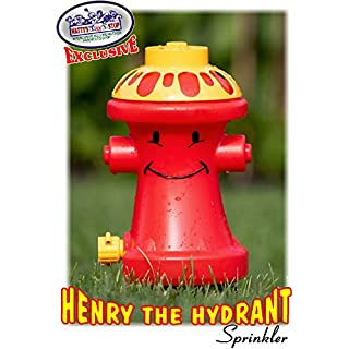 """Matty's Toy Stop Henry The Hydrant Water Sprinkler for Kids, Attaches to Standard Garden Hose & Sprays Up to 10 Feet High & 16 Feet Wide, Measures 10.75"""" High"""