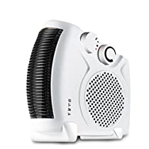 2000W Upright / Flatbed Fan Heater with Two Heat Settings and Cool Blow,Household Portable Electric Heater