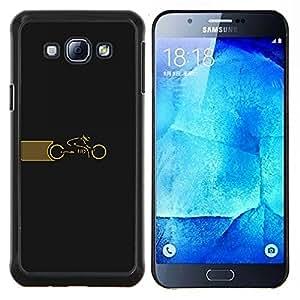Ciclo Tr0n- Metal de aluminio y de plástico duro Caja del teléfono - Negro - Samsung Galaxy A8 / SM-A800