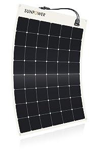SunPower 170 Watt Flexible High-Efficiency Solar Panel