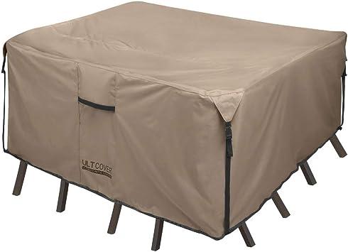 Amazon.com: Ultcover 600D Cubierta de mesa para patio ...