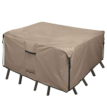 Amazon Com Ultcover Square Round Patio Heavy Duty Table Cover 600d