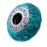 Pandora Teal Shimmer Charm, Murano Glass 791655