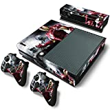 Mod Freakz Console and Controller Vinyl Skin Set - Marvel Iron Man Gold/Red for Xbox One