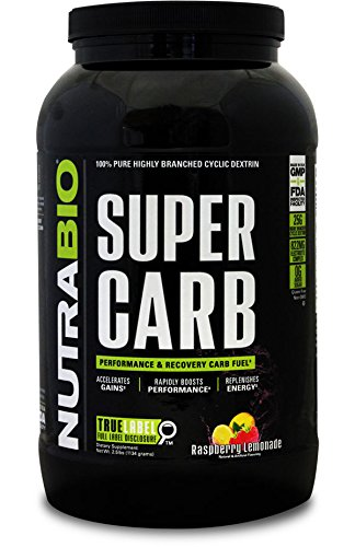NutraBio Super Carb - 60 Servings (Raspberry Lemonade)