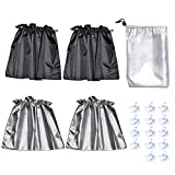 HX425 sunshade,Sucker type car curtains ,double - sided car shade shade,Painted silver reflective fabric-4 pieces