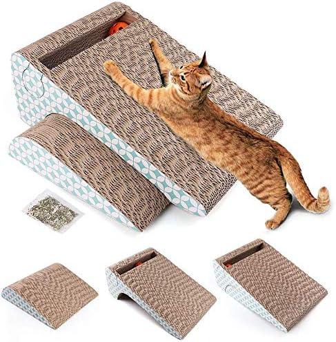 LotFancy Rascador para Gatos con Catnip y Juguete Gato Pelota, 2 en 1 Alfombras Rascadoras Carton Reciclado Corrugado: Amazon.es: Productos para mascotas