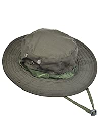 Fishing Hat Sports Topee Jungle Camping Cap Summer String Hat for Hunting Outdoor (Army Green)