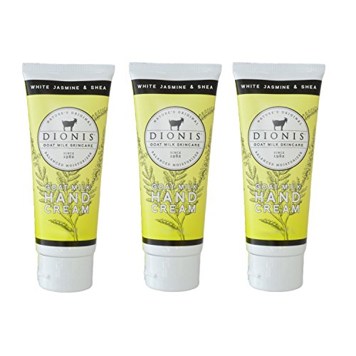 Dionis Goat Milk Hand Cream 3 Piece Travel Gift Set - White