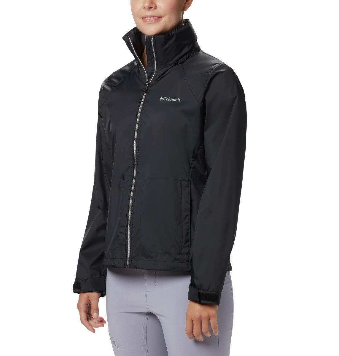 Columbia Women's Plus Size Switchback III Adjustable Waterproof Rain Jacket, Black, 2X by Columbia