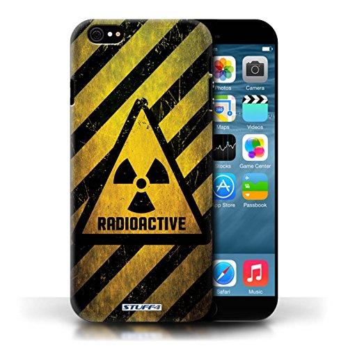 KOBALT® Hülle Case für Apple iPhone 6/6S | Strahlung Entwurf | Warnung Zeichen Kollektion