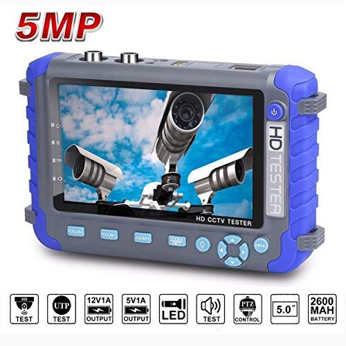 Video Controller Cctv - JZTEK 5 Inch Camera Tester CCTV Tester AHD TVI CVI HD Coaxial Tester Video Monitor Tester Analog Video Tester with PTZ Controller Image Generator DC 12V Output-Blue