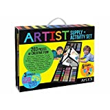 ART 101 Kids 196-Piece Double Sided Trifold Easel Art Set