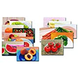 Stages Learning Fruits & Vegetables Posters Real Photo Classroom Decorations for Preschool Bulletin Boards & Circle Time 10 Large Picture Cards